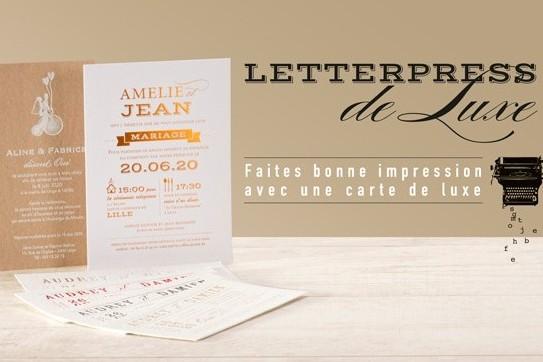 faire part mariage letter press