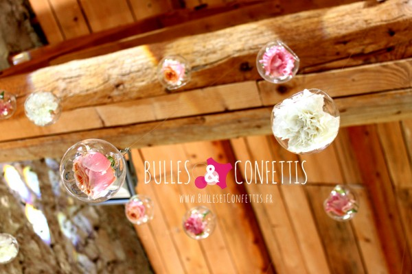 bulles fleurs plafond bulles et confettis