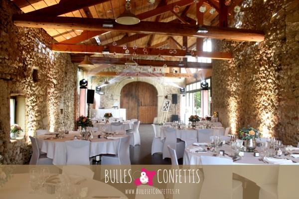 decoration mariage bulles et confettis