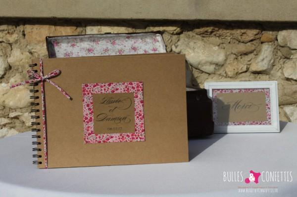 Decoration mariage Kraft et Liberty_Bulles et Confettis_La Bastide de Jaillans